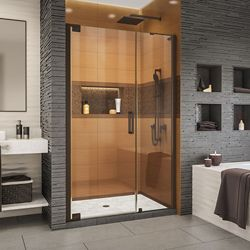 DreamLine Elegance-LS 43 - 45 inch W x 72 inch H Frameless Pivot Shower Door in Oil Rubbed Bronze