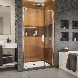 DreamLine Elegance-LS 37 - 39 inch W x 72 inch H Frameless Pivot Shower Door in Chrome