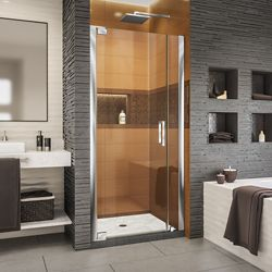 DreamLine Elegance-LS 29 1/4 - 31 1/4 inch W x 72 inch H Frameless Pivot Shower Door in Chrome