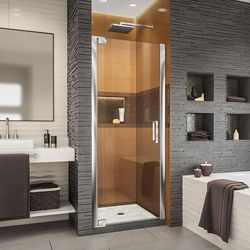 DreamLine Elegance-LS 27 - 29 inch W x 72 inch H Frameless Pivot Shower Door in Chrome