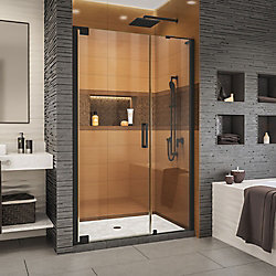 DreamLine Elegance-LS 46 1/2 - 48 1/2 inch W x 72 inch H Frameless Pivot Shower Door in Satin Black