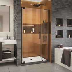 DreamLine Elegance-LS 42 1/4 - 44 1/4 inch W x 72 inch H Pivot Shower Door in Oil Rubbed Bronze