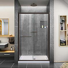 Infinity-Z 44-48 inch W x 72 inch H Semi-Frameless Sliding Shower Door in in Oil Rubbed Bronze