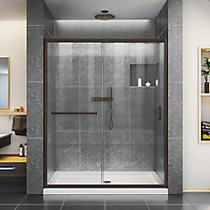 Shower Doors Glass Frameless Gliding More The Home Depot Canada