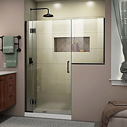 DreamLine Unidoor-X 64 -64 1/2 inch W x 72 inch H Frameless Shower Door in Satin Black