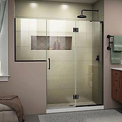 DreamLine Unidoor-X 71-71 1/2 inch W Frameless Hinged Shower Door in Satin Black