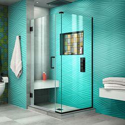 DreamLine Unidoor Plus 36 1/2 inch W x 30 3/8 inch D x 72 inch H Shower Enclosure Satin Black