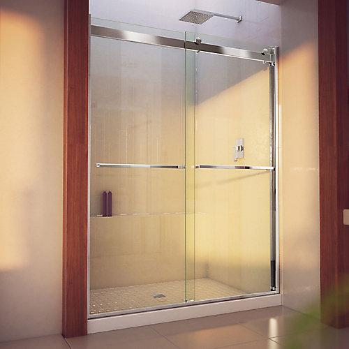 Essence-H 56-60 inch W x 76 inch H Frameless Bypass Shower Door in Chrome