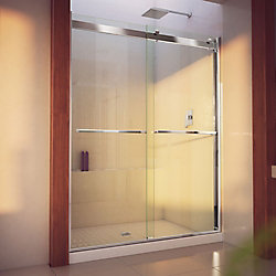 Essence-H 56-60 inch W x 76 inch H Frameless Bypass Shower Door in Chrome