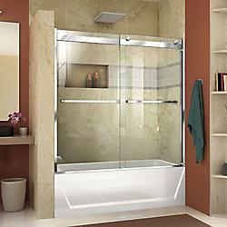 DreamLine Essence-H 56-60 inch W x 60 inch H Frameless Bypass Tub Door in Chrome