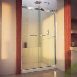 DreamLine Essence-H 44-48 inch W x 76 inch H Frameless Bypass Shower Door in Chrome
