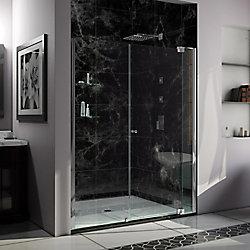DreamLine Allure 66-67 inch W x 73 inch H Frameless Pivot Shower Door in Chrome