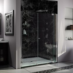 DreamLine Allure 66-67 inch W x 73 inch H Frameless Pivot Shower Door in Chrome