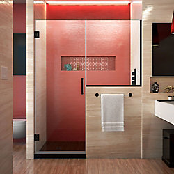 DreamLine Unidoor Plus 65-65 1/2 inch W x 72 inch H Shower Door with 36 inch in Satin Black