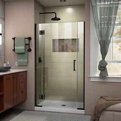 DreamLine Unidoor-X 38 1/2-39 inch W x 72 inch H Frameless Hinged Shower Door in Satin Black