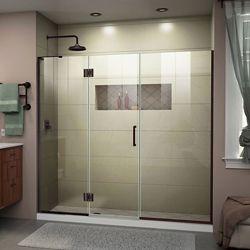 DreamLine Unidoor-X 68-68 1/2 inch W Frameless Hinged Shower Door in Oil Rubbed Bronze