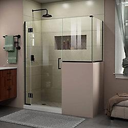 DreamLine Unidoor-X 59 inch W x 36 3/8 inch D x 72 inch H Shower Enclosure in Satin Black