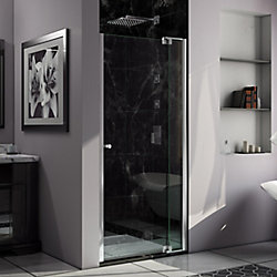 DreamLine Allure 38-39 inch W x 73 inch H Frameless Pivot Shower Door in Chrome