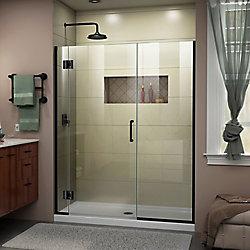 DreamLine Unidoor-X 46 1/2-47 inch W x 72 inch H Frameless Hinged Shower Door in Satin Black