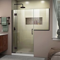 DreamLine Unidoor-X 56-56 1/2 inch W x 72 inch H Frameless Shower Door in Oil Rubbed Bronze