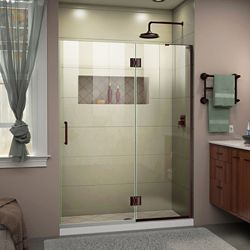 DreamLine Unidoor-X 53 inch W x 72 inch H Frameless Shower Door in Oil Rubbed Bronze