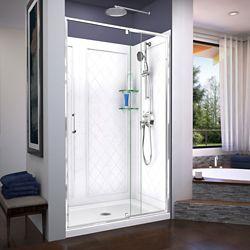 DreamLine Elegance-LS 118.11-123.19 cm. W x 182.88 cm. H Pivot Porte de Douche en Bronze huilé