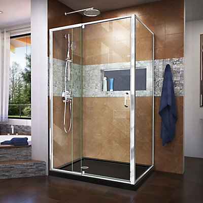 DreamLine Flex 36 inch D x 48 inch W x 74 3/4 inch H Shower ...