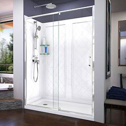 DreamLine Unidoor Lux 119.38 cm. W x 182.88 cm. H Porte de Douche en Nickel Brossé