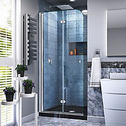 DreamLine Unidoor Plus 73.66-74.93 cm. W x 182.88 cm. H Sans Cadre Porte de Douche en Noir Satiné