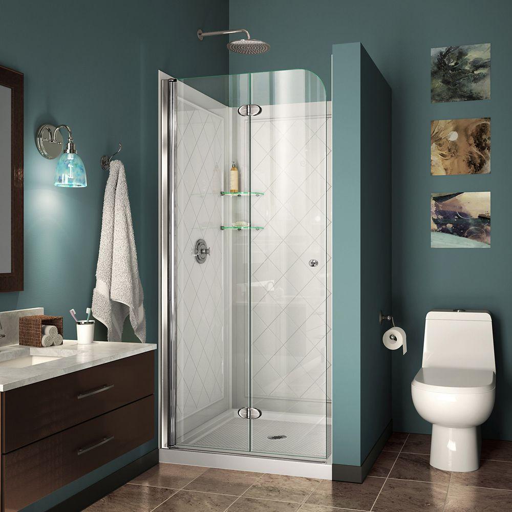 DreamLine Aqua Fold 36 Inch D X 36 Inch W Bi-Fold Shower