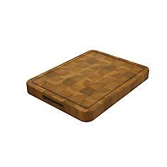 Acacia Butcher Block, Chopping Board, Golden Teak, 600x400x40mm 24 inch x 16 inch x 1.5 inch