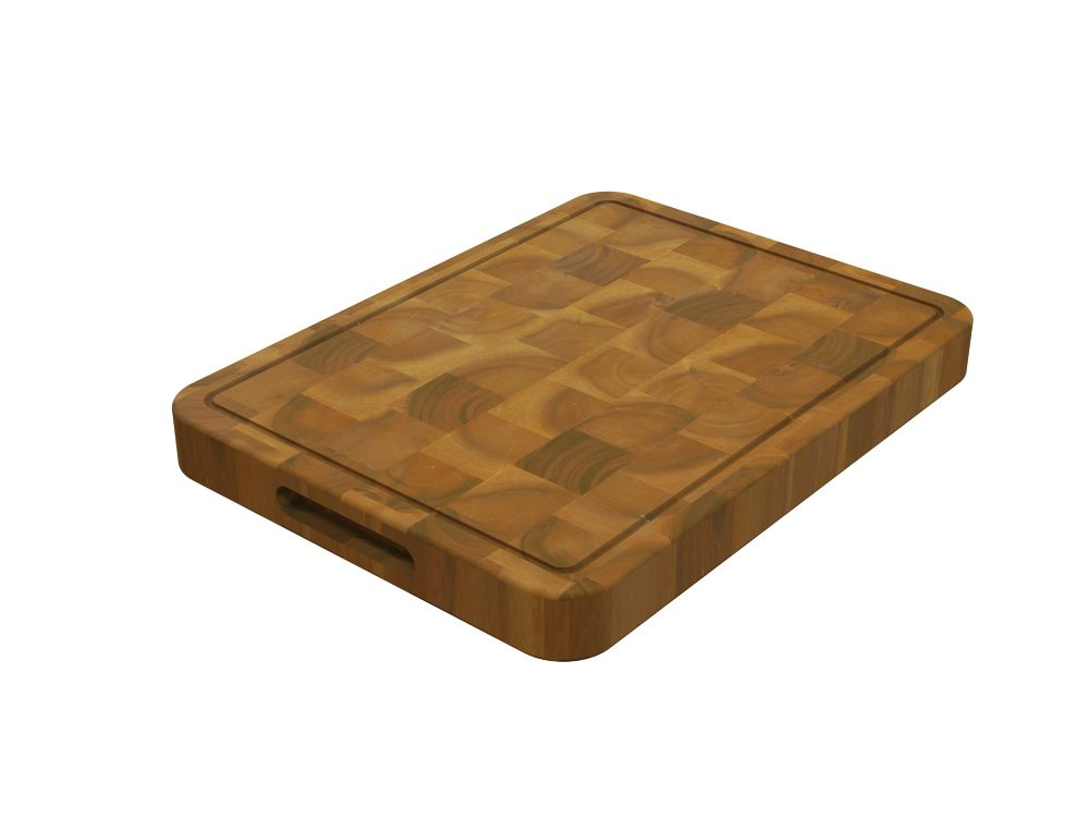 Home Decorators Collection Acacia Butcher Block, Chopping Board, Golden Teak, 600x400x40mm 24 inch x 16 inch x 1.5 inch