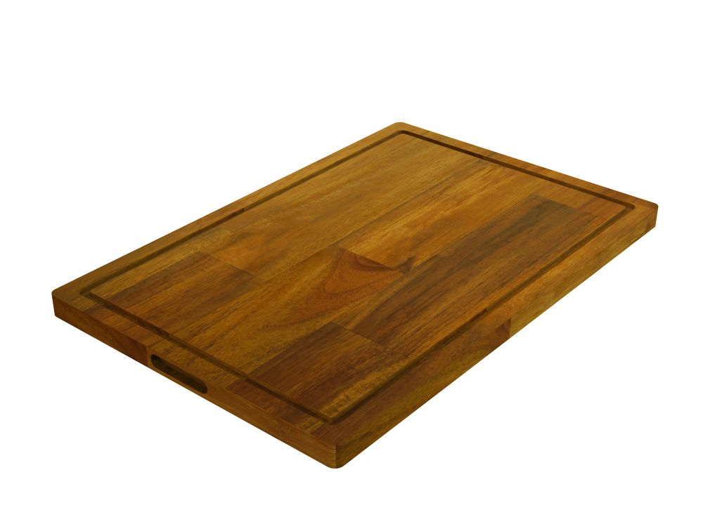 Home Decorators Collection Acacia,Butt Edge Chopping Board, Golden Teak, 400x600x26mm 16 inch x 24 inch x 1 inch