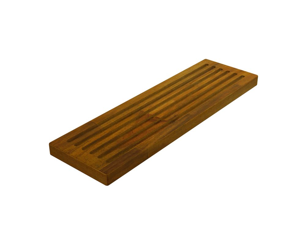 INTERBUILD Acacia, Butt Edge Chopping Board, Golden Teak, 150x500x26mm 6 inch x 20 inch x 1 inch