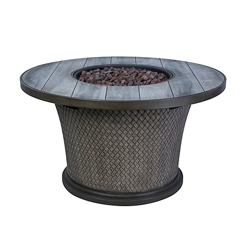 42-inch Fire Pit Chat Table