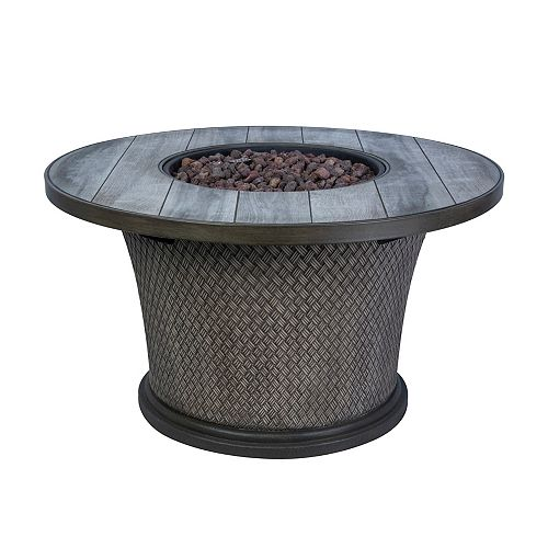 Hampton Bay 42-inch Fire Pit Chat Table