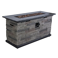 Hampton Bay Propane Fire Pit Chat Table The Home Depot
