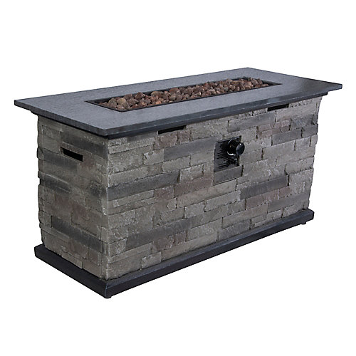 Rectangular Fire Pit Chat Table
