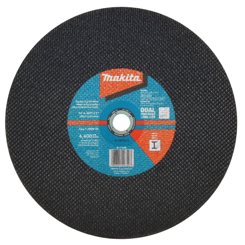 Makita 14 Inchx0 10 Inchx1 Inch Abrasive Cut Off Wheel