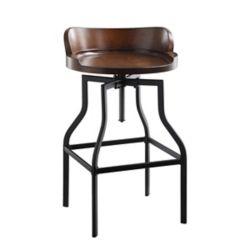 Carolina Forge Marais Adjustable Barrel Seat Stool