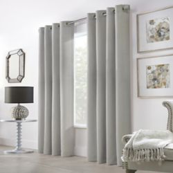 HDC Belfast Light Filtering Grommet Curtain 52 inches width X 108 inches length, Silver