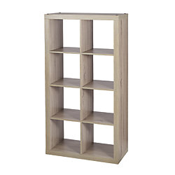 Home Decorators Collection 8-Cube Storage Unit in Light Oak