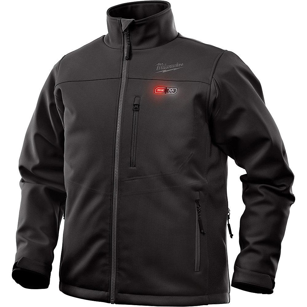 Hommes 2X-Large M12 12V 12V Lithium-Ion sans fil sans fil Kit veste chauffante noire avec 2.0Ah Batterie et chargeur