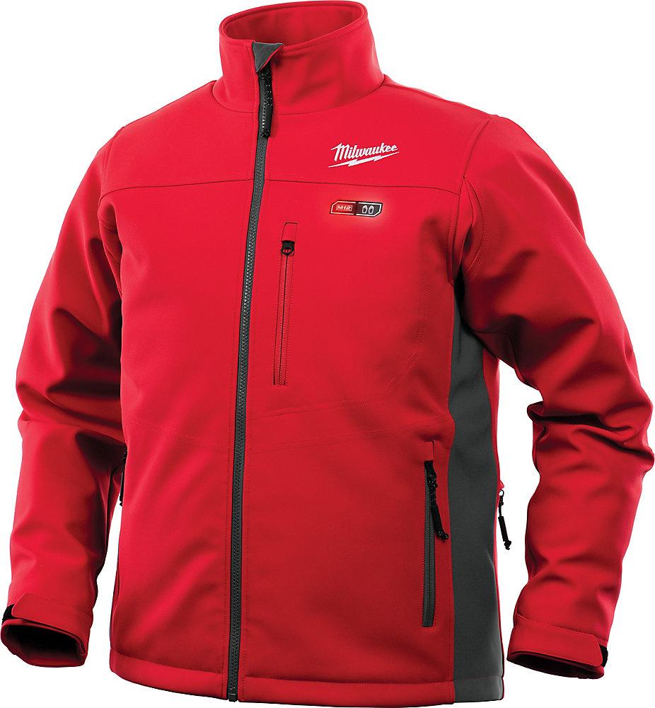 Veste chauffante rouge sans fil 12 V au lithium-ion M12 pour homme (veste seulement)