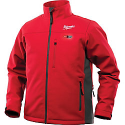 Milwaukee Tool Men's X-Large M12 12V Lithium-Ion Cordless Red Heated Jacket (Jacket Only)