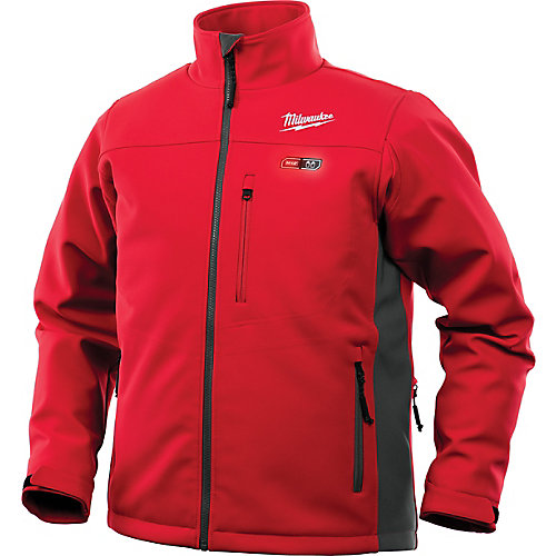 Men's Medium M12 12-Volt Lithium-Ion Cordless Red Heated Jacket Kit w/ 2.0Ah Battery and Charger