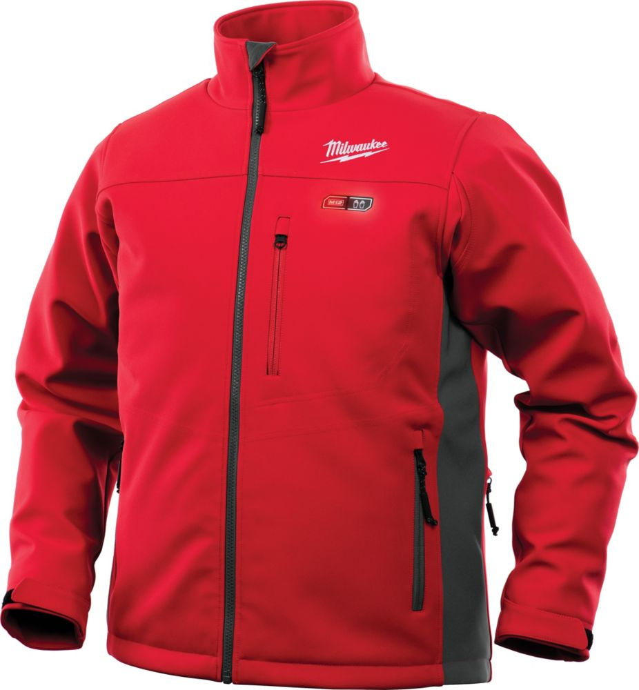 Milwaukee Tool Men's Large M12 12-Volt Lithium-Ion Cordless Red Heated Jacket (Tool Only)