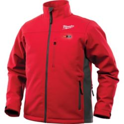 Milwaukee Tool Men's Medium M12 12-Volt Lithium-Ion Cordless Red Heated Jacket Kit w/ 2.0Ah Battery and Charger