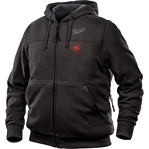 Men's Large M12 12-Volt Lithium-Ion Cordless Black Heated Hoodie Kit w/ 1.5 Ah Battery & Charger
