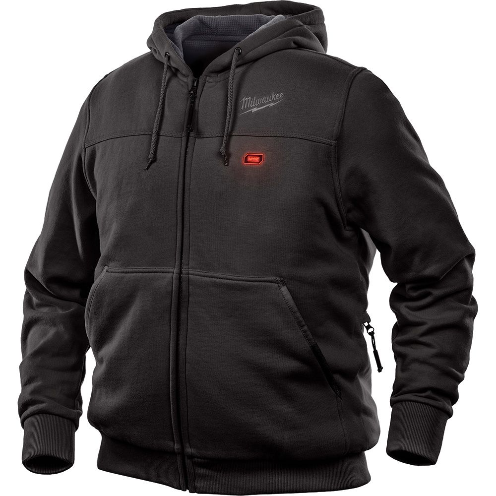 Milwaukee Tool Men's 2X- Large M12 12-Volt Lithium-Ion Cordless Black Heated Hoodie (Tool Only)